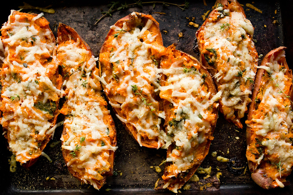 TWICE-BAKED SWEET POTATOES, THANKSGIVING WINS