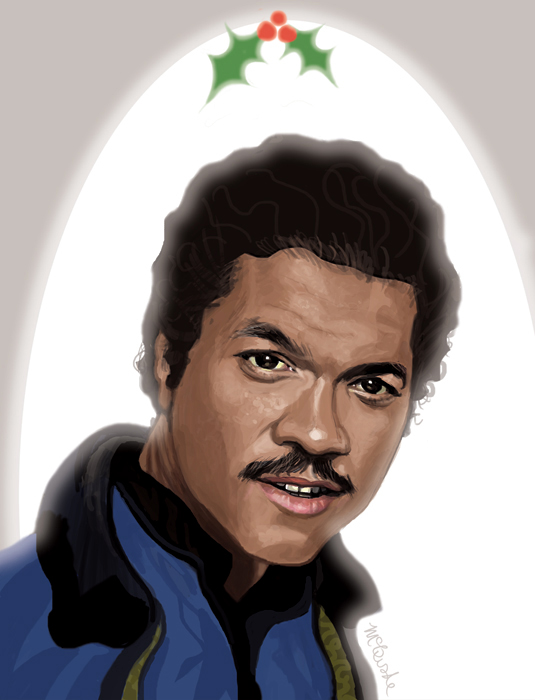 Lando Calrissian Holiday Card