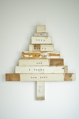 dreaming of a white x-mas (tree) by wood & wool stool
