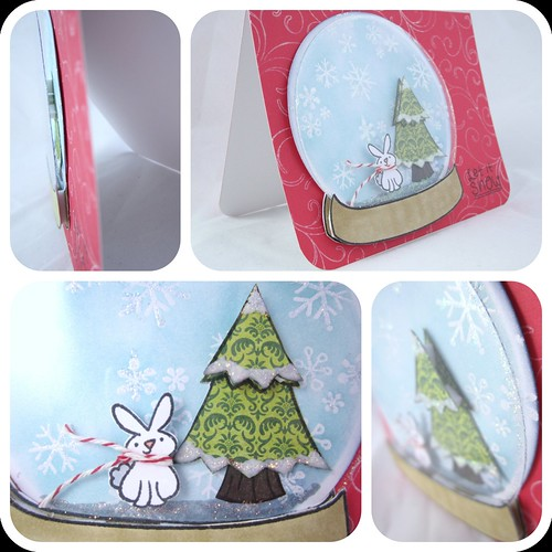 Bunny snowglobe card_angles