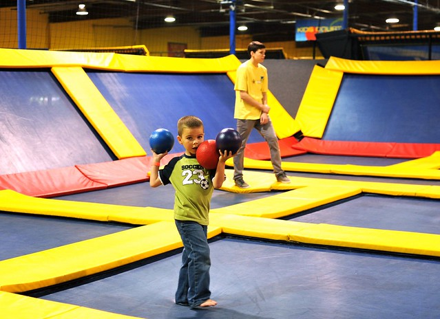 Angry Kid at Sky High Sports in Orange County, CA