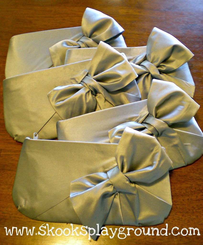 Fancy Bow Clutches - all in a row