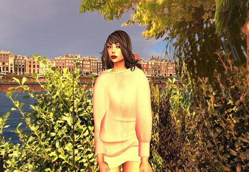 Ero Rabbi---Doman Sleeve Knitting Dress - Old Rose by Cherokeeh Asteria