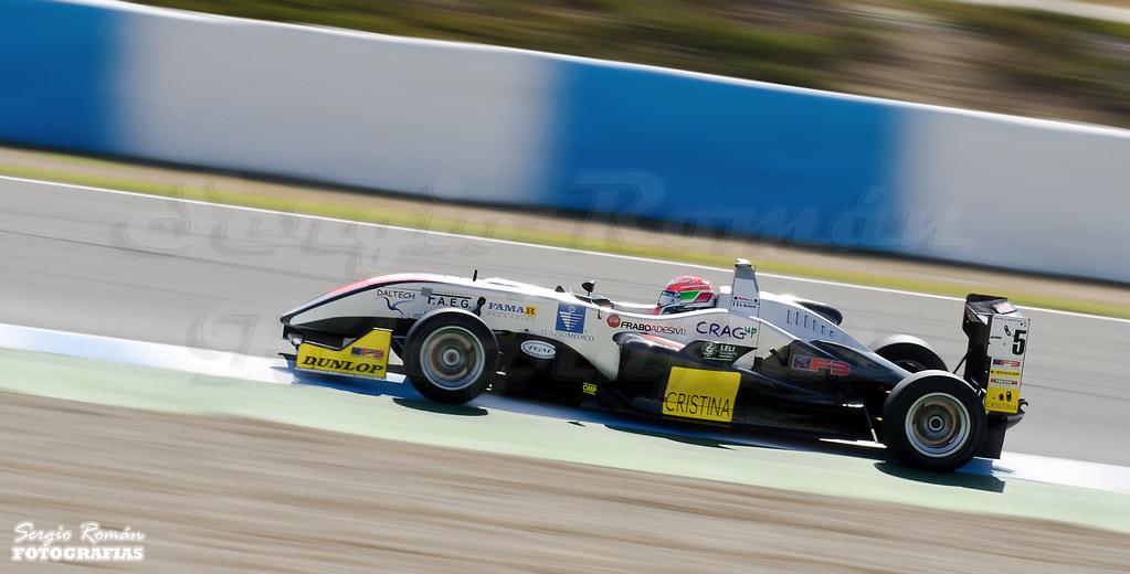 European F3 Open. Pilot N. Schiro. Campeonato Europeo de F3. Piloto N. Schiro