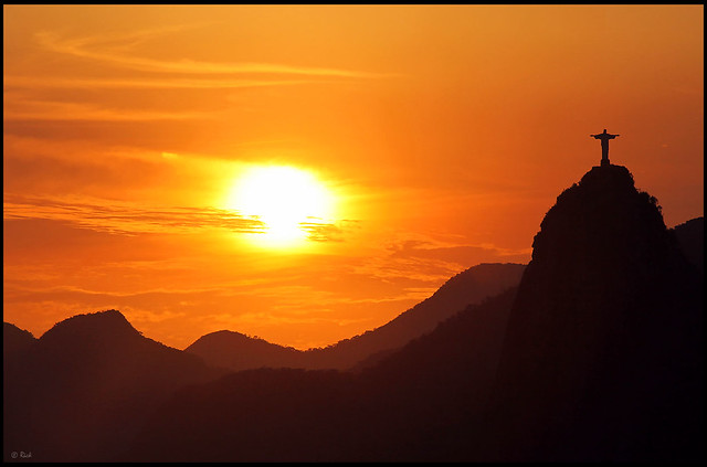 Christ the Redeemer, Sunset | Flickr - Photo Sharing!