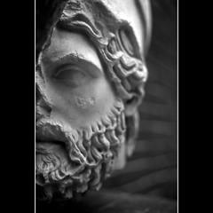 greek statue head