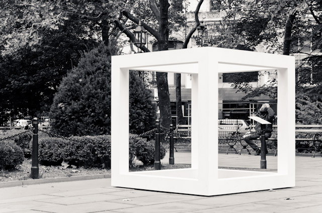 Sol LeWitt structure (City Hall Park, NYC)