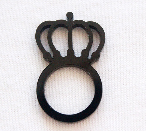 Queens Of Sounds Jewellery -  QOS acrylic Logo Ring