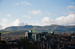 Pentland Hills from the roof of the National Museum of Scotland, Edinburgh, Sept. 2011