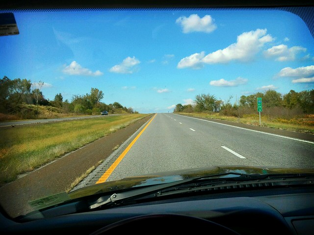 Straight roads...blue skies...