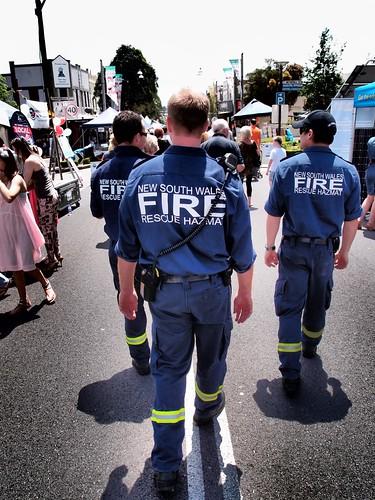 New South Wales (NSW) Firefighters (Fire Rescue Hazmat) - Leichhardt Norton St Italian Festa 2011