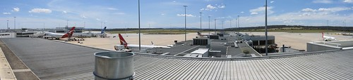 Panorama from the Melbourne Airport observation deck