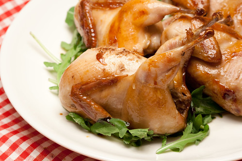 Honey and soy glazed quails / Mesine-sojane vutike