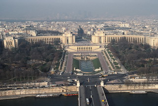 View west from Eiffel Tower, Paris