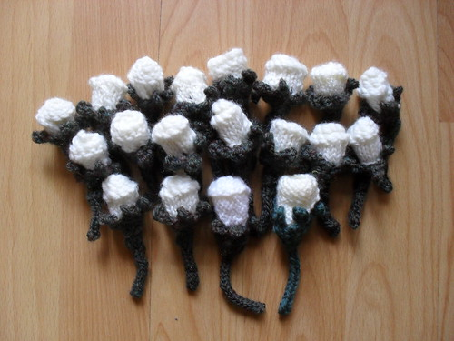 Lots of knitted button holes!