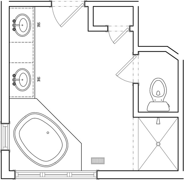 Master bath before floor plan flickr photo sharing Bathroom floor plans