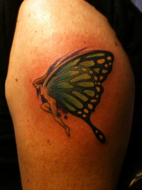 Keith Groves butterfly fairy tattoo Artistic Ink