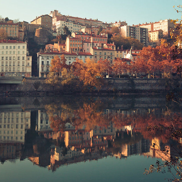 Fall in Lyon, France