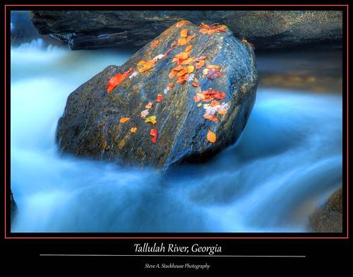 autumn fall nature ga river georgia landscape rocks stream tallulahriver