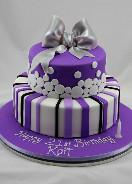 Purple Polka Dots Cake Ideas And Designs