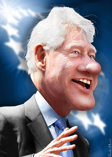 Bill Clinton - Caricature