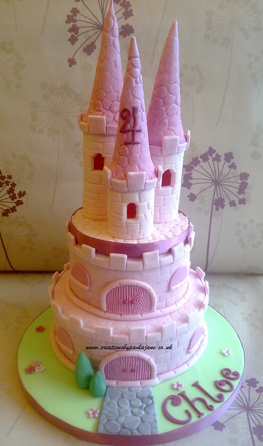 Cake Art Creations By Jane : Princess Castle Cake Flickr - Photo Sharing!