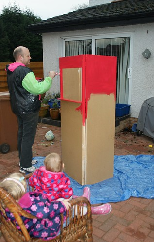 Painting the puppet theatre by PhylB