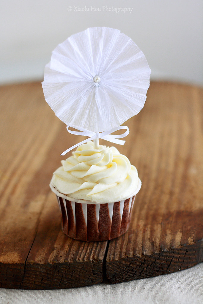 Crepe Paper Rosette Cupcake Toppers