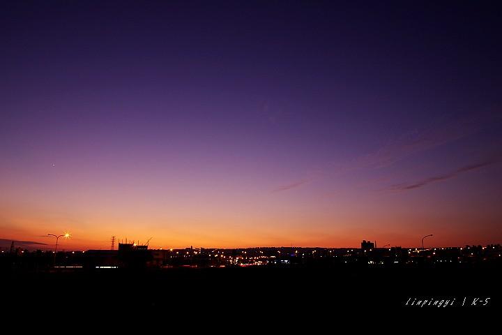 路邊拍夕陽