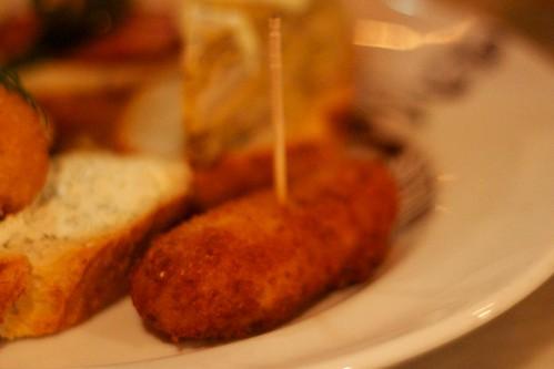 Potato and bacon croquette