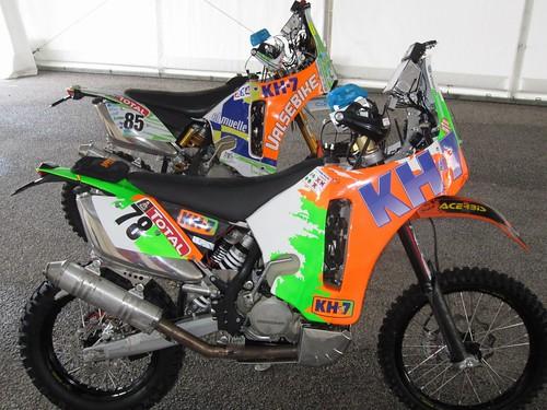 Las KTM-KH7 de Rosa #78 y Pedro Peñate #85 dakar 2012