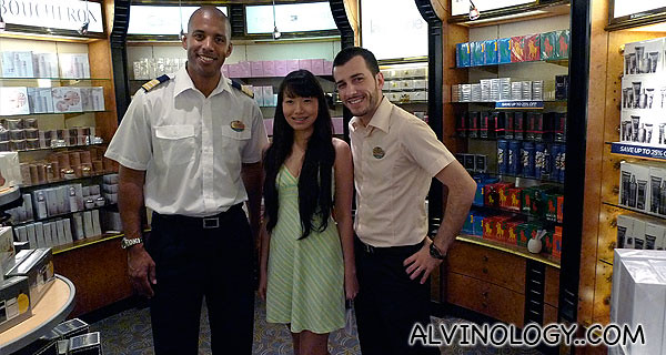 Pretty Cherie with two of the retail guys in one of the stores