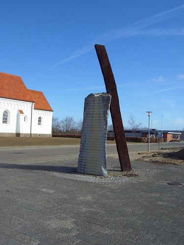 Erik Heide. Klippen og staven, 1994. Nørregade-Vendelbogade, Sindal (2):