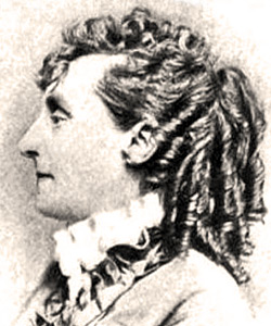 Profile of Elizabeth Van Lew with curly hair