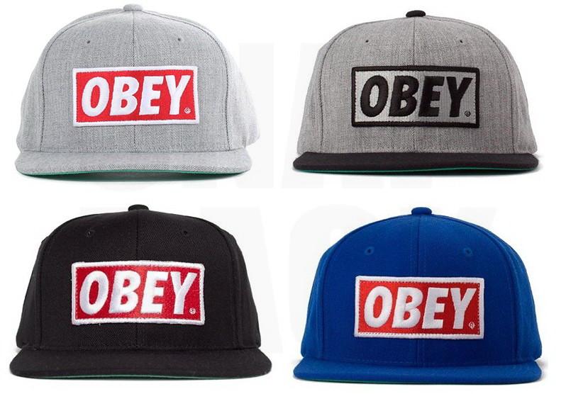 ... OBEY Hats - Obey Original Snapback Cap - Heather Grey Black Blue-Red 716646b53c3
