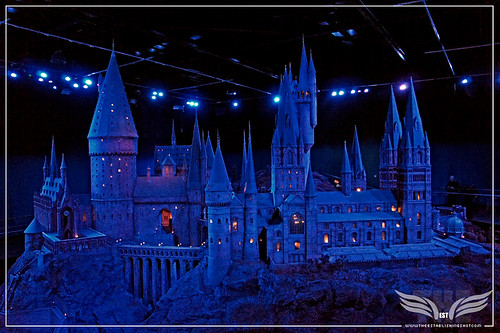 The Establishing Shot: The Making of Harry Potter Tour - Model Room Hogwarts Castle Model at night by Craig Grobler