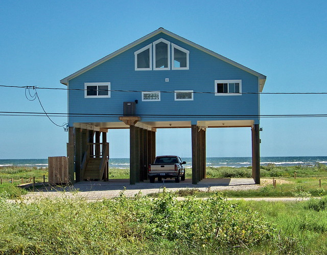 Beach house in galveston for Beach house plans galveston