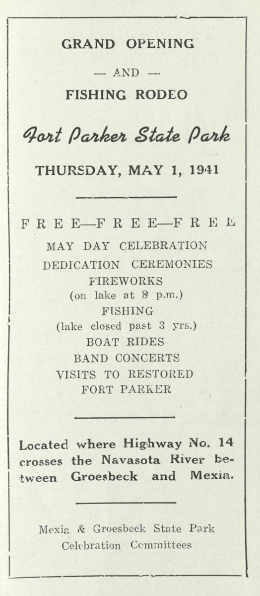 Fort Parker State Park program