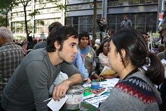 Ai Satoh engages Occupy Wall Street Activist