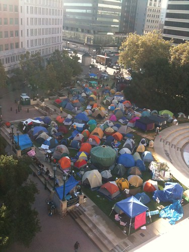 View from office of #occupyoakland 10/14/11