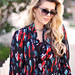bow blouse by walter- chloe sunglasses-wavy long hair