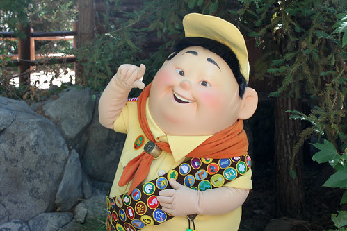 Meeting Russell after the Wilderness Explorer Ceremony