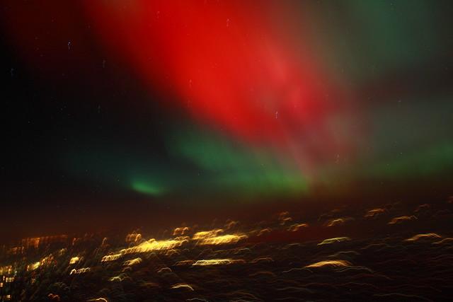 Colourful aurora borealis a massive solar storm is behind