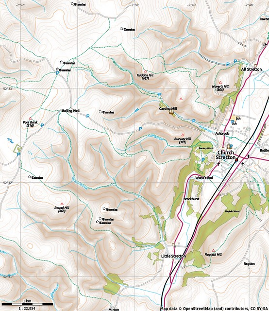 Second map of the Long Mynd