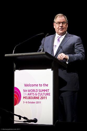Robert Doyle, Lord Mayor of Melbourne at the official opening of the 5th World Summit on Arts and Culture