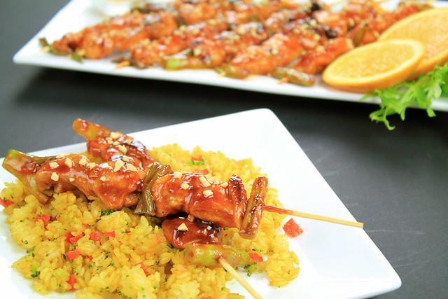 Korean spicy chicken skewers2 | [Dakkochi] Spicy chicken ...