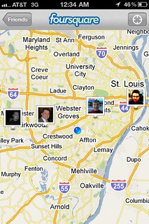 STL Foursquare map