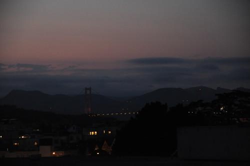 金門橋の夕焼け