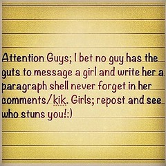 Girls i bet no guy can write a paragraph