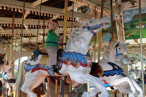 Olsen on the Carousel at Seaport Village